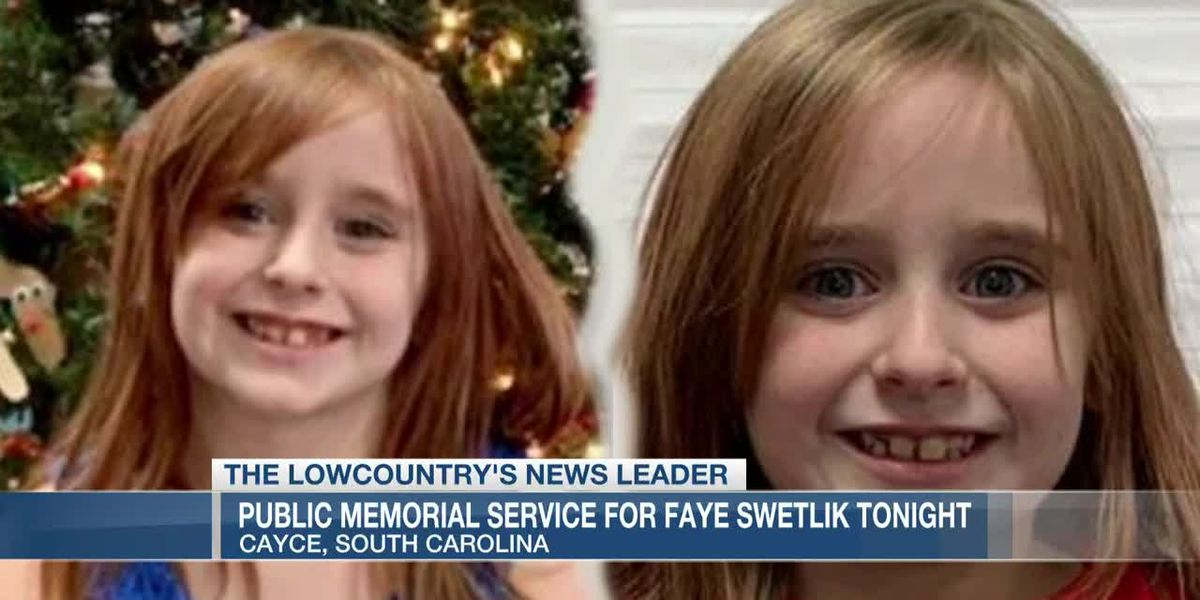 VIDEO: Public memorial service for 6-year-old Faye Swetlik set for Friday night