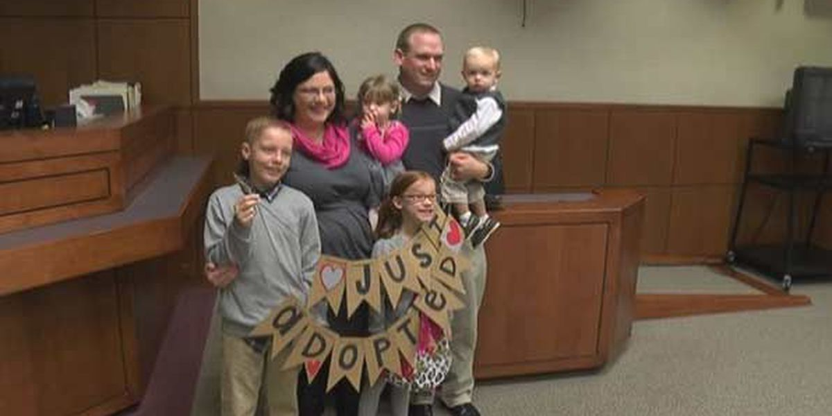 Louisville couple unable to have children adopts 4 siblings