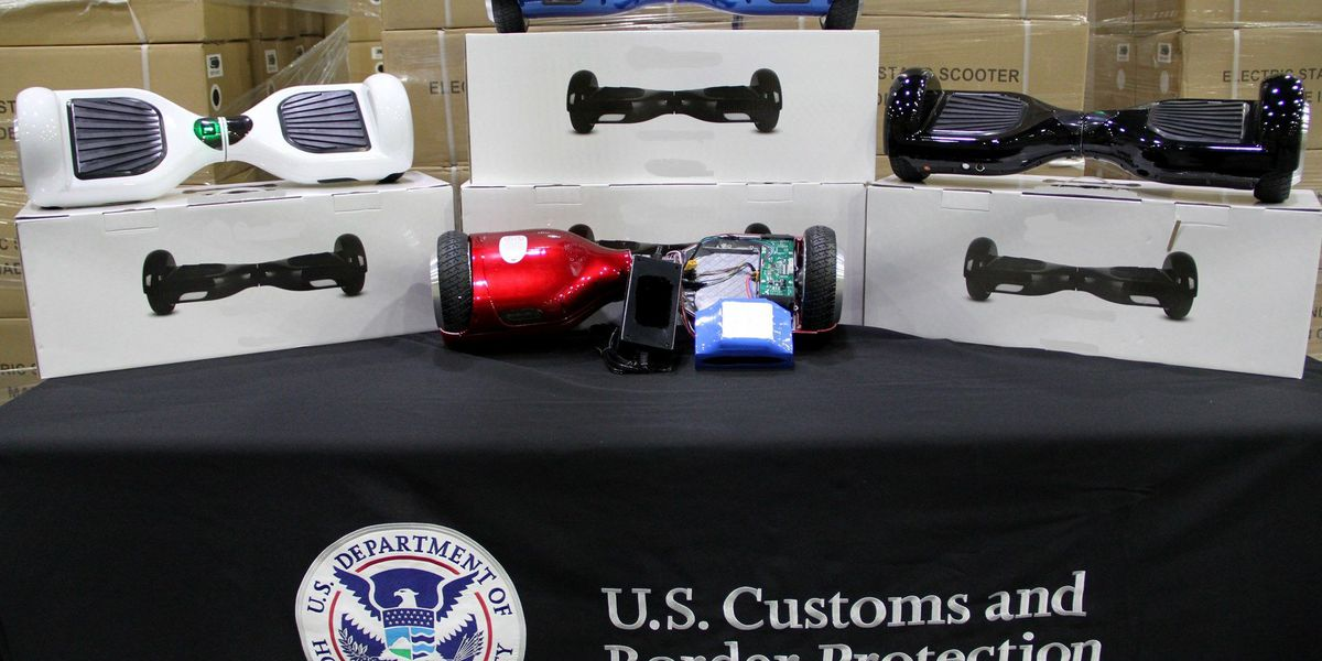$1.6M in counterfeit hoverboards seized at Port of Charleston