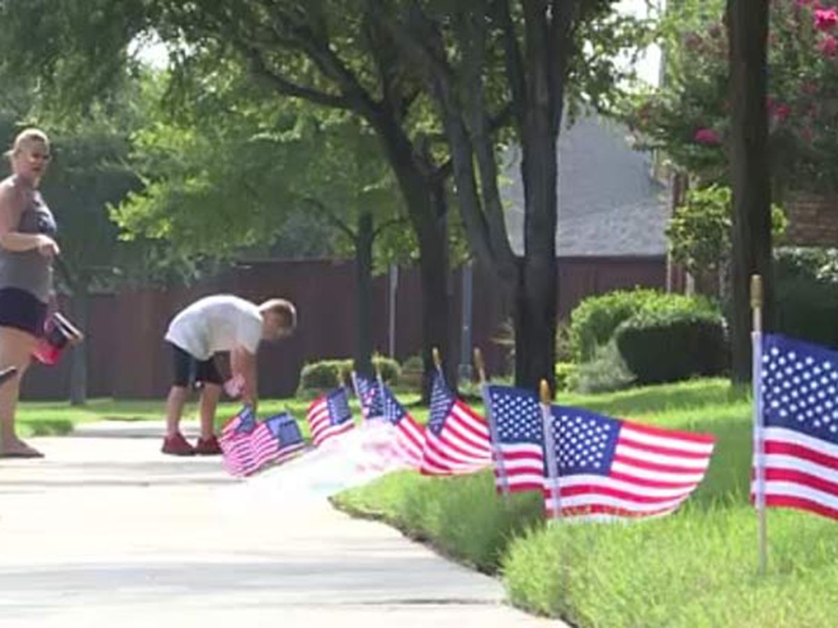 Second grader creates patriotic flag business