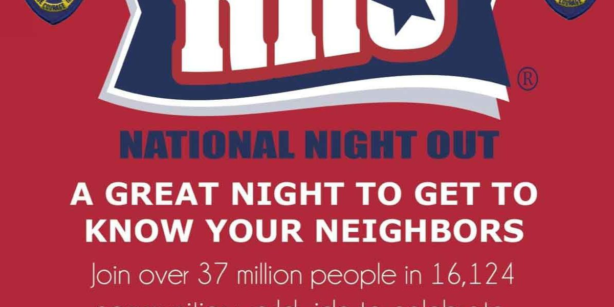 Mount Pleasant police hosting National Night Out on Aug. 4