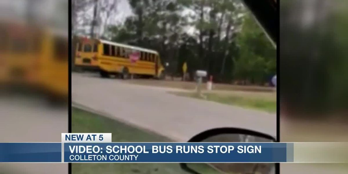 VIDEO: 'Kids' lives are in danger:' S.C. mom concerned after school bus runs stop sign