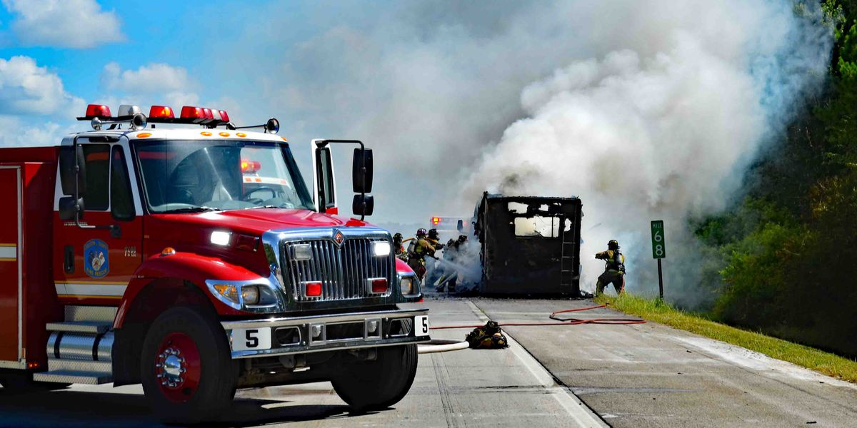 Show dogs and cat perish in I-95 motorhome blaze