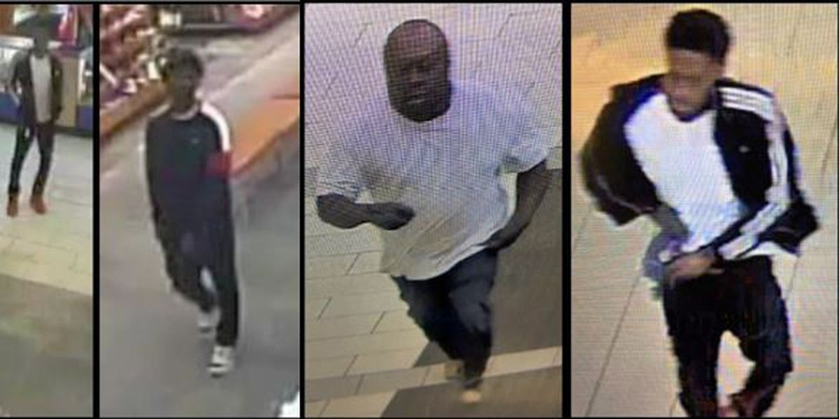 Photos released of people wanted for questioning in Northwoods Mall shooting