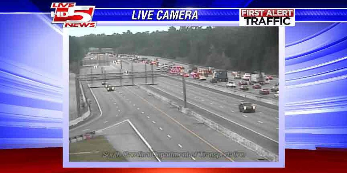 I-26 moving after several collisions slow eastbound traffic