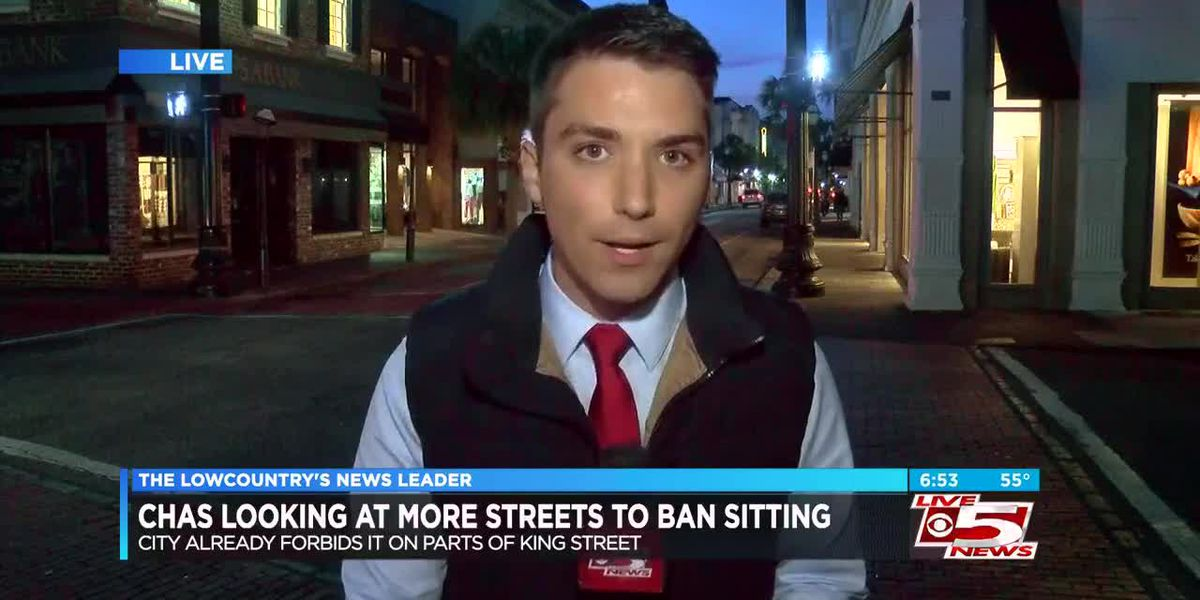 VIDEO: Charleston could make it illegal to sit on more city sidewalks downtown