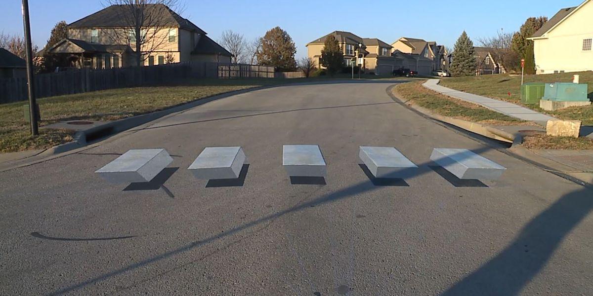 Kansas City testing 3D crosswalk to slow down traffic
