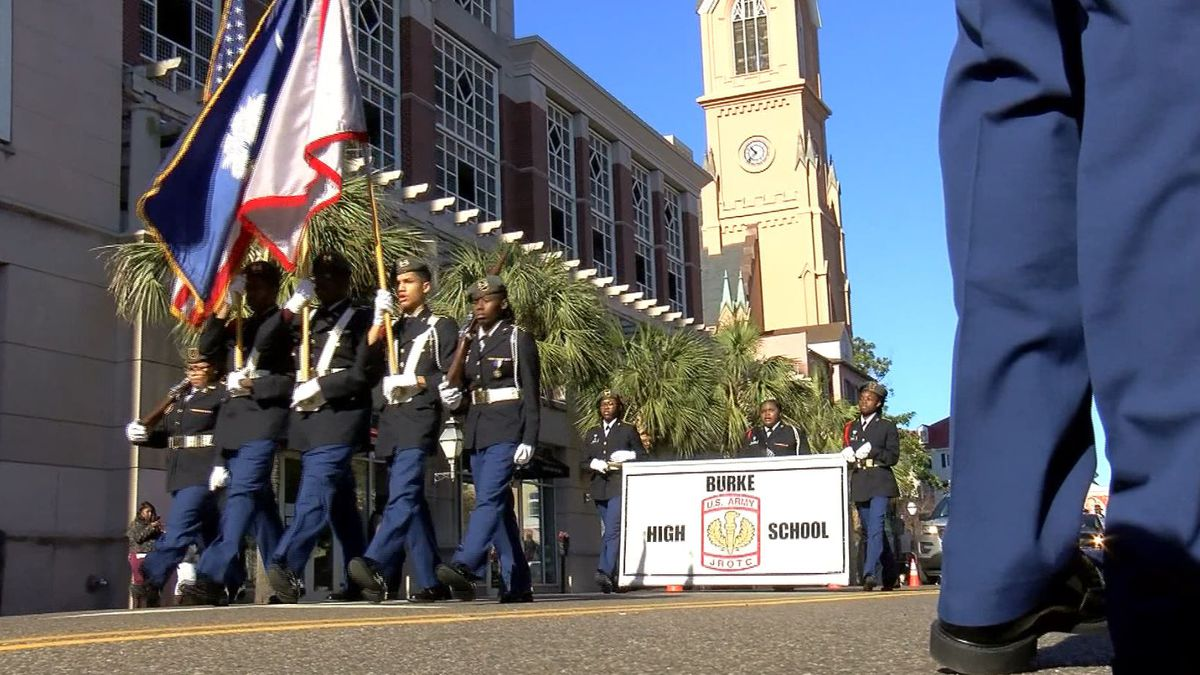 Cold temps won't stop the marchers in Charleston's MLK Day Parade