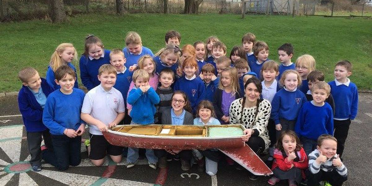 Toy boat launched by Charleston elementary school students found in Britain