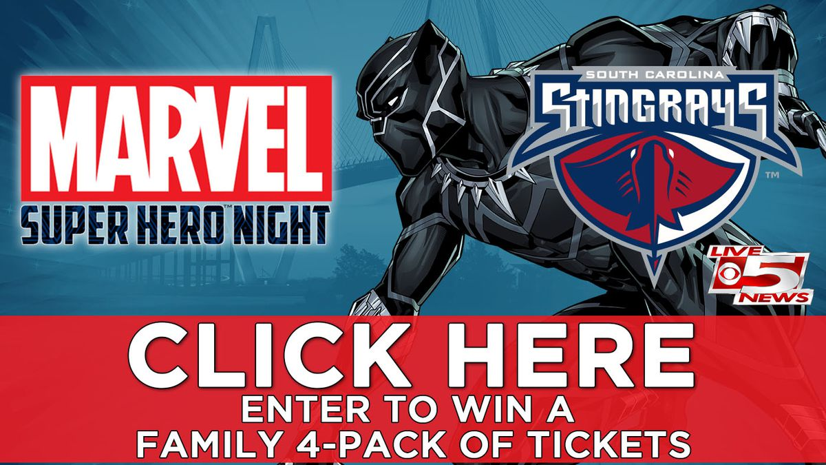 Win a Family 4-Pack of Tickets to Marvel Super Hero Night at the Charleston Stingrays