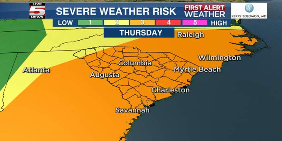 FIRST ALERT: Storms, strong winds possible Thursday