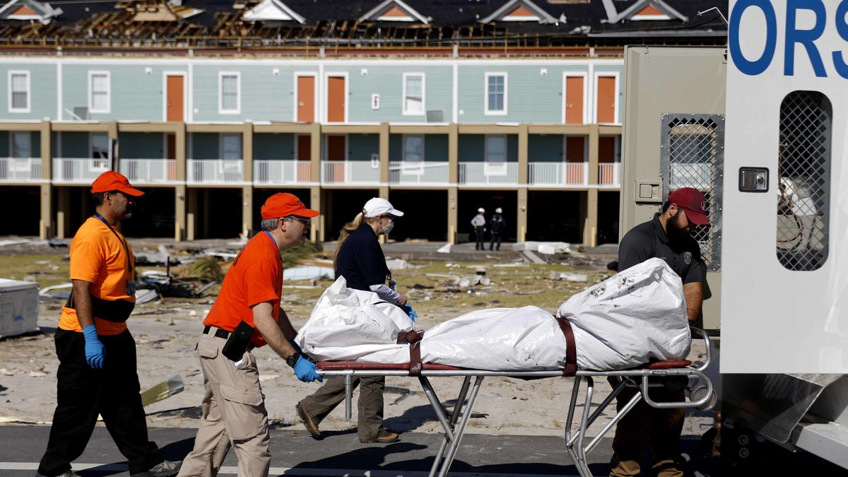 Official: Searchers find body in hurricane-stricken town