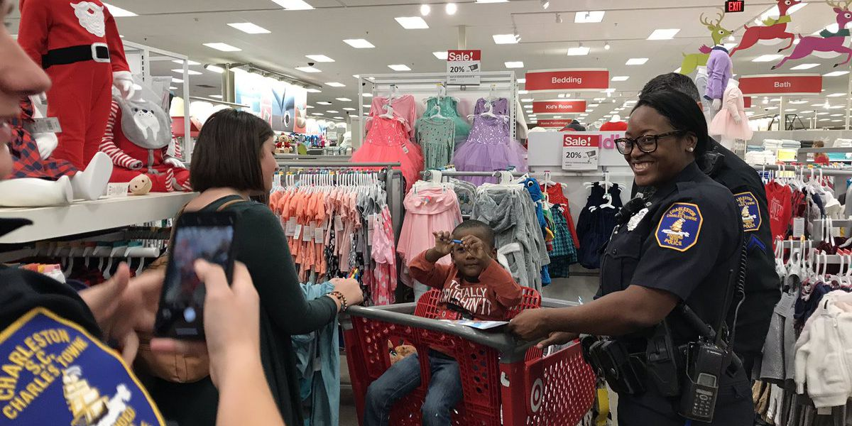 Charleston Cops with Kids program provides Christmas shopping day for kids