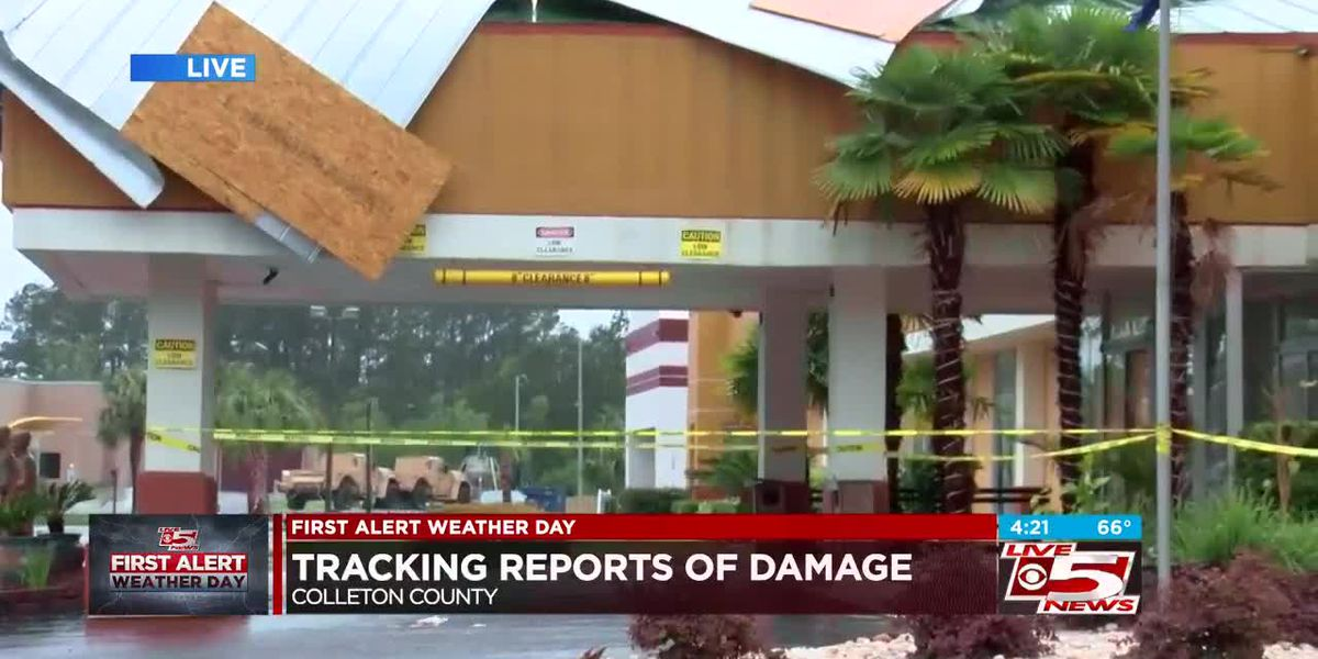 VIDEO: Colleton County reports damage from strong storms