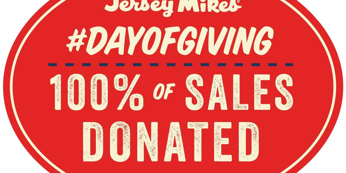 Jersey Mike's to donate all Charleston area sales to MUSC Children's Hospital on Wednesday