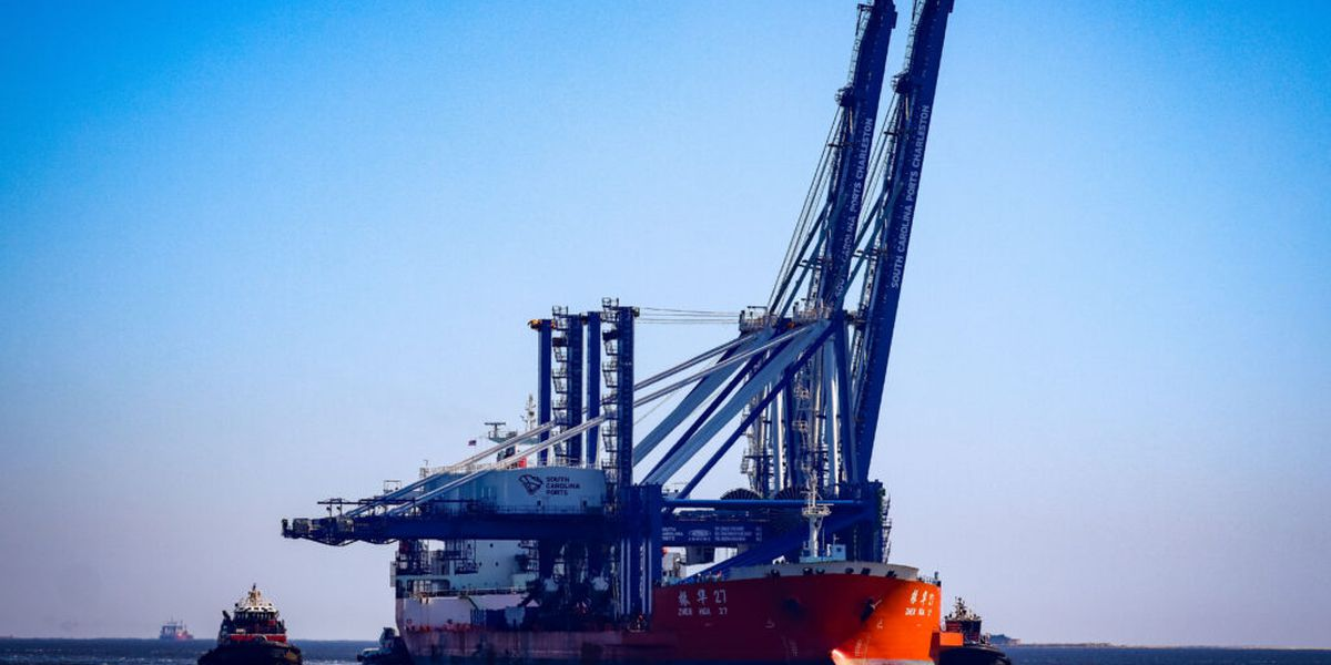 New cranes delivered to Port of Charleston