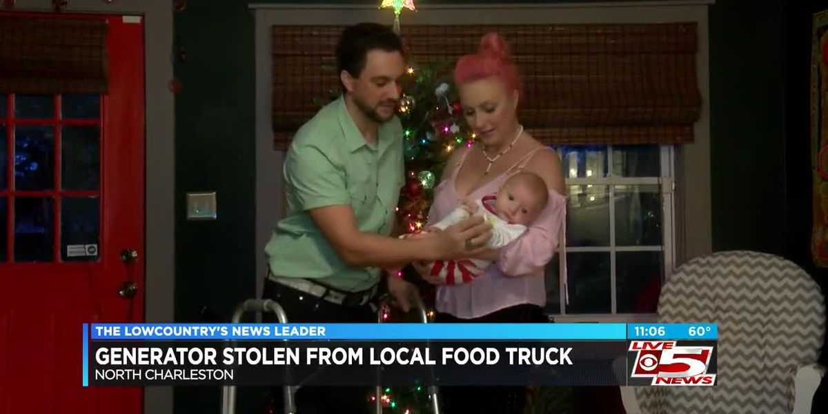 VIDEO: Generator stolen from N. Charleston family's food truck