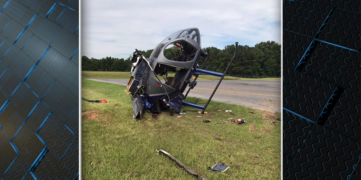 Pilot transported to hospital after SLED helicopter crashes at Summerville Airport