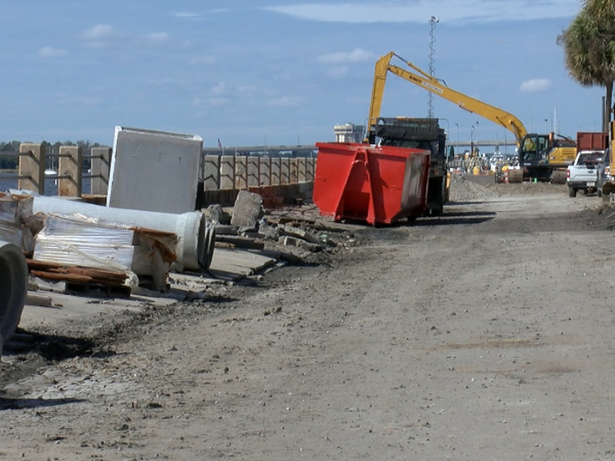 Battery sea wall reconstruction nears completion
