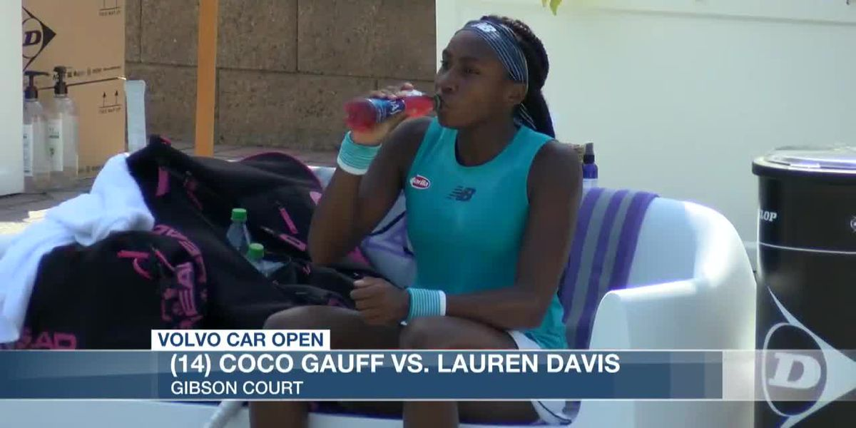 VIDEO: CoCo Gauff punches ticket to Volvo Car Open quarterfinals
