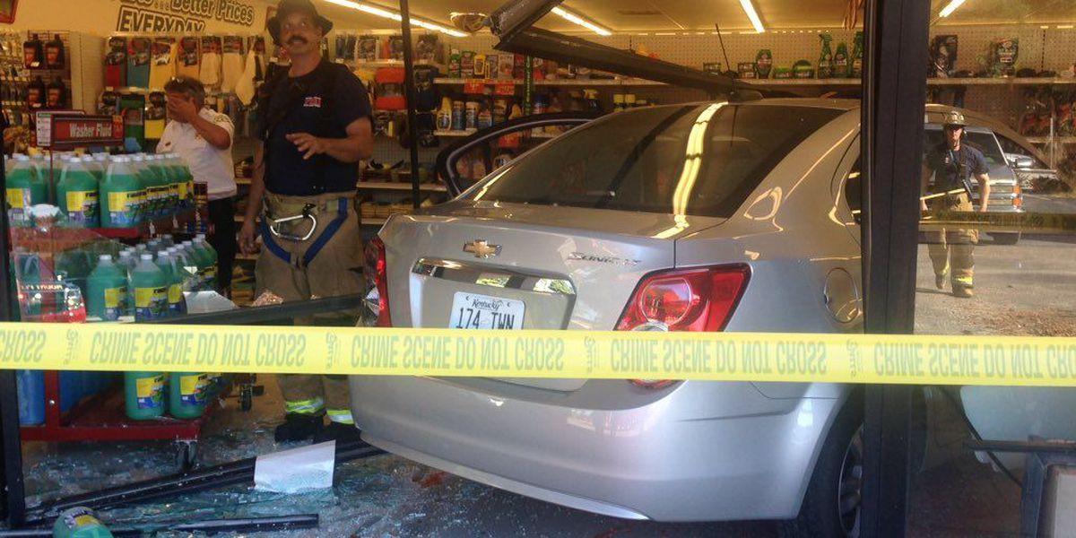 Car crashes into Mount Pleasant auto parts store