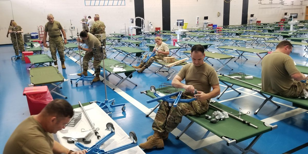SC State Guard helps to convert MUSC fitness center into field hospital