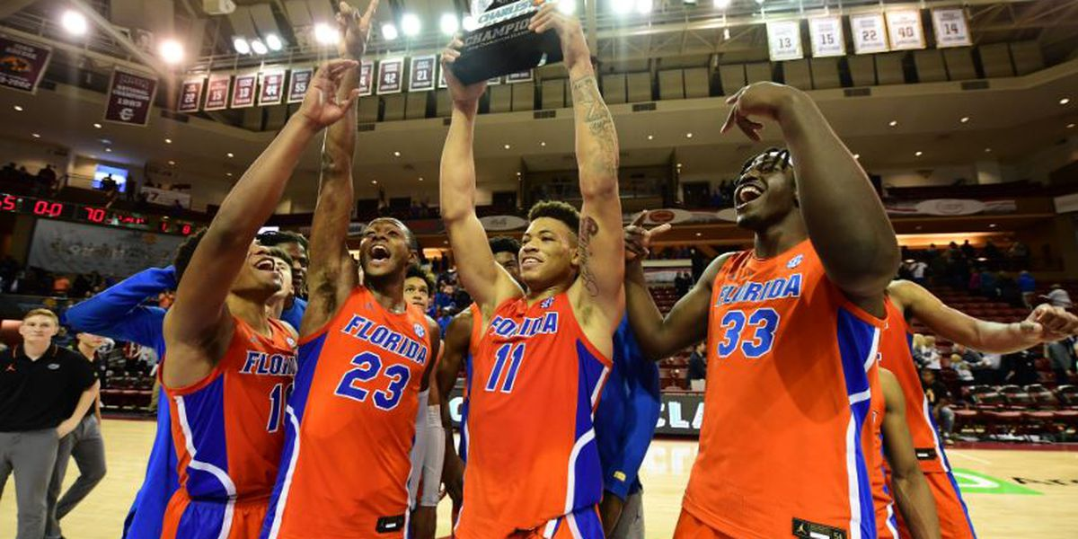Keyontae Johnson played very well to lead Florida to a win over Xavier.  (Photo: Charleston Classic Twitter.)