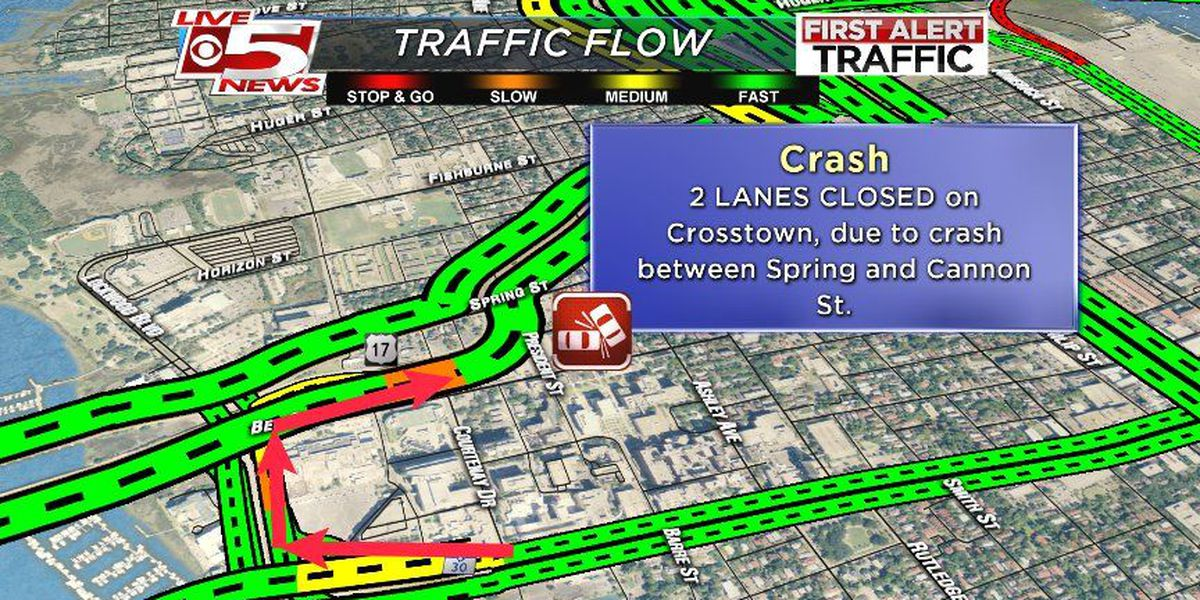FIRST ALERT TRAFFIC: All lanes open on the crosstown after a motorcycle crash