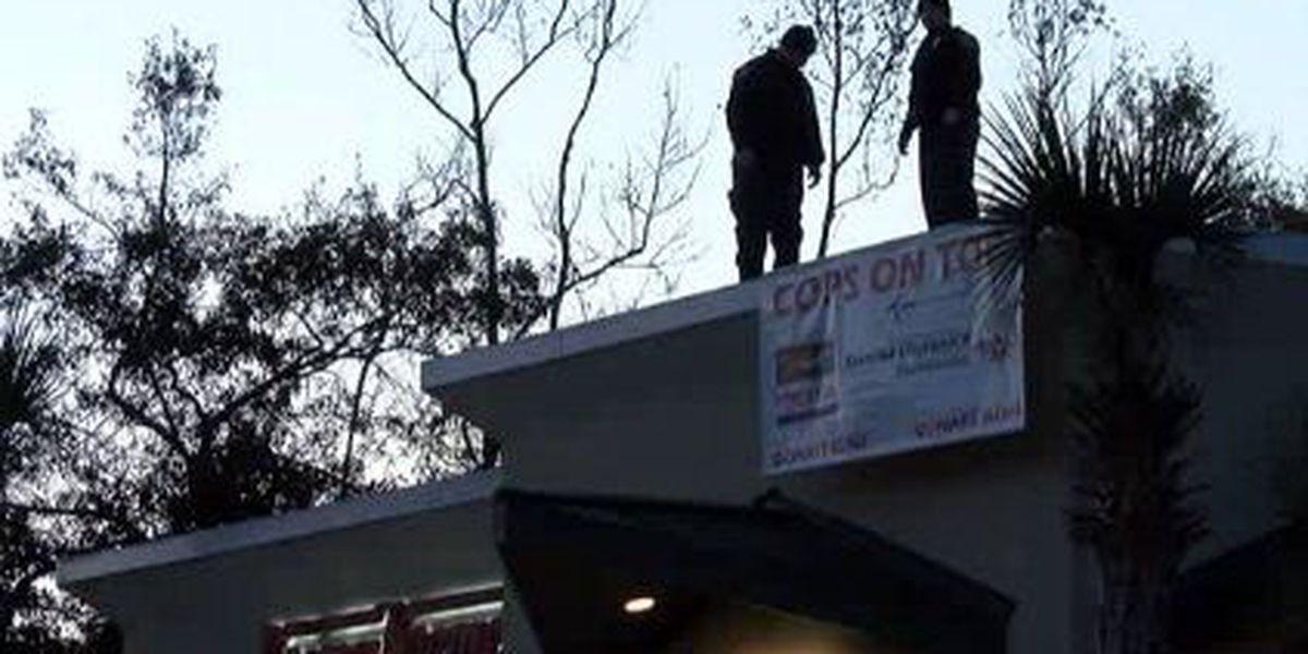 South Carolina lawmen hit doughnut shop roof for fundraiser
