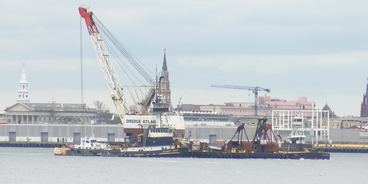 Record number of dredges working to deepen Charleston Harbor