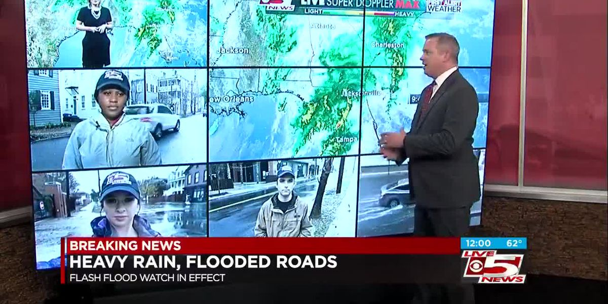 VIDEO: Roads closed during significant flooding in downtown Charleston
