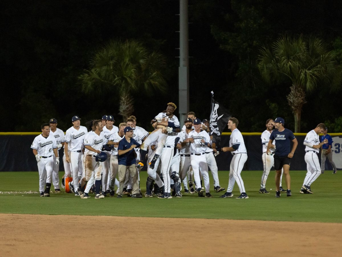 Bucs survive weather delay to walk-off against PC in key midweek contest