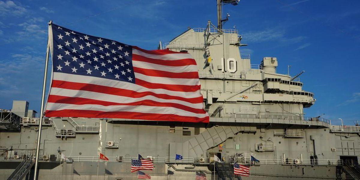 USS Yorktown memorial ceremony honoring those lost at Pearl Harbor