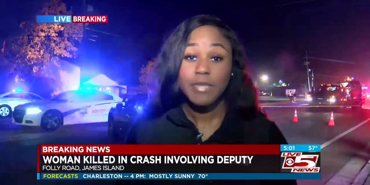 VIDEO: Woman killed in crash involving Charleston County deputy