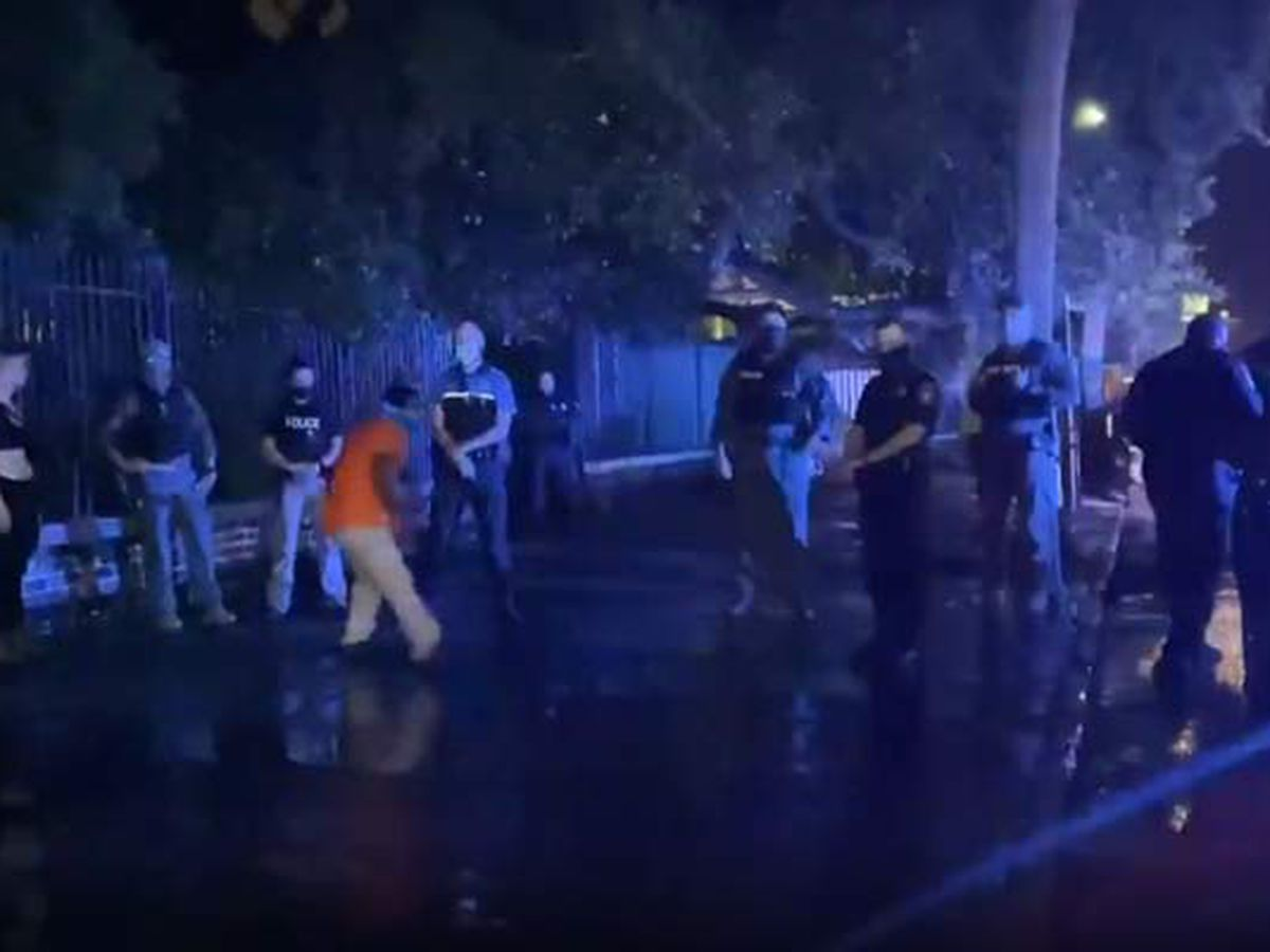 Charleston Police make arrests during Saturday night protest