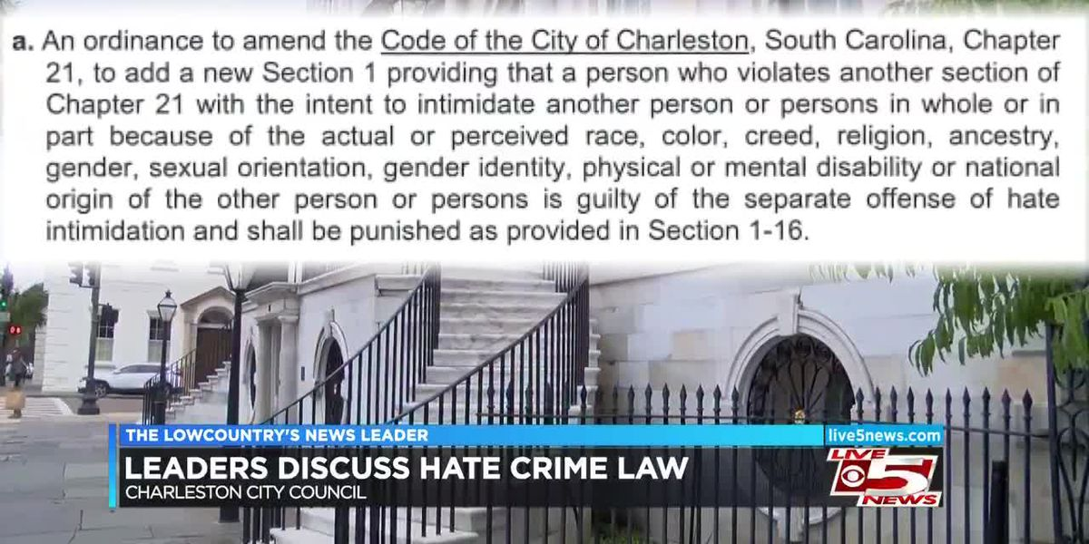 Charleston City Council considers hate crime law
