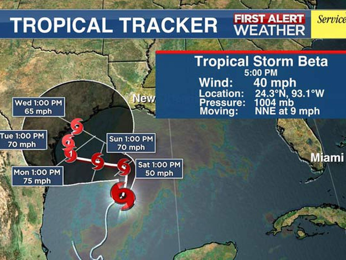 FIRST ALERT: Tropical Storm Beta forms in Gulf coast