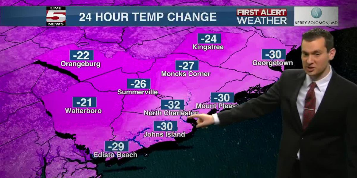 VIDEO: Some parts of the Lowcountry see 30-degree temperature drop