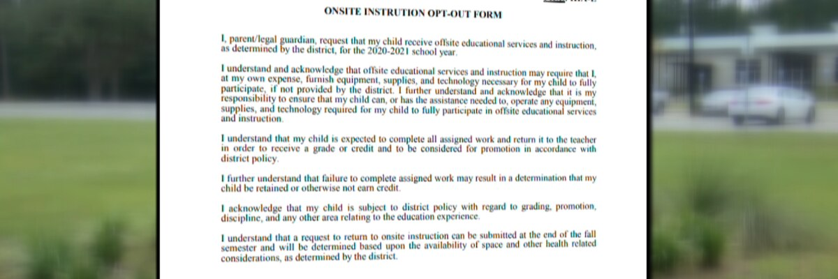 Form to opt out of in-person instruction causes concerns in Colleton County