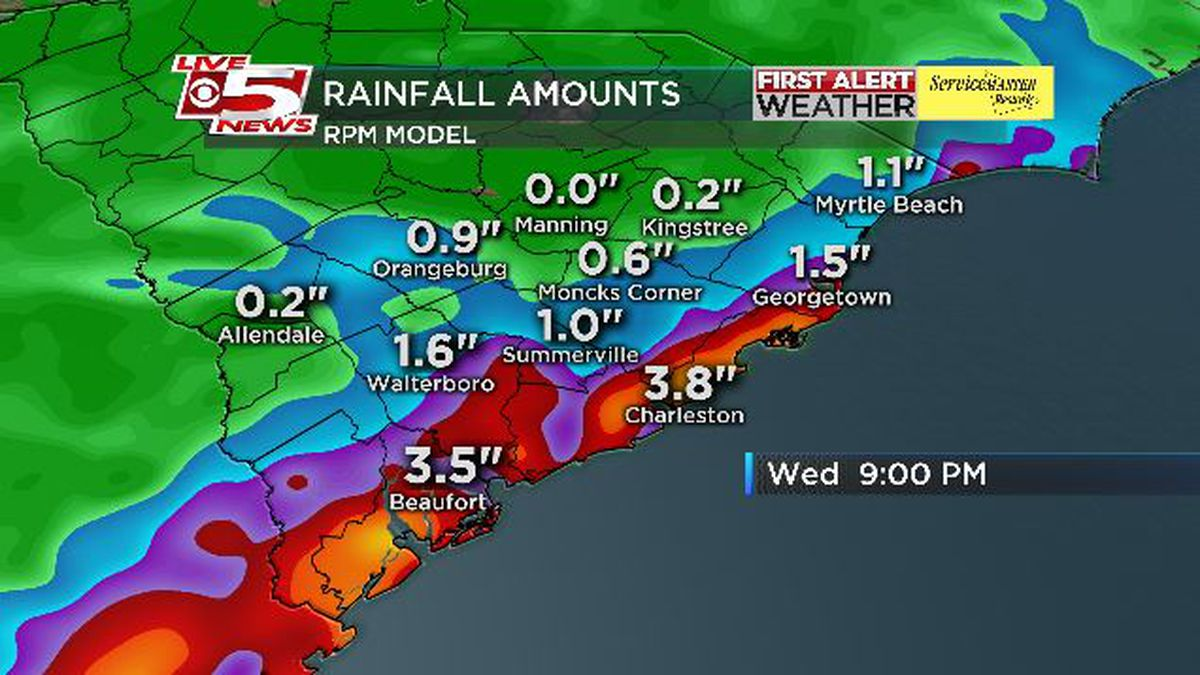 FIRST ALERT: Part of Lowcountry under flash flood watch Wednesday