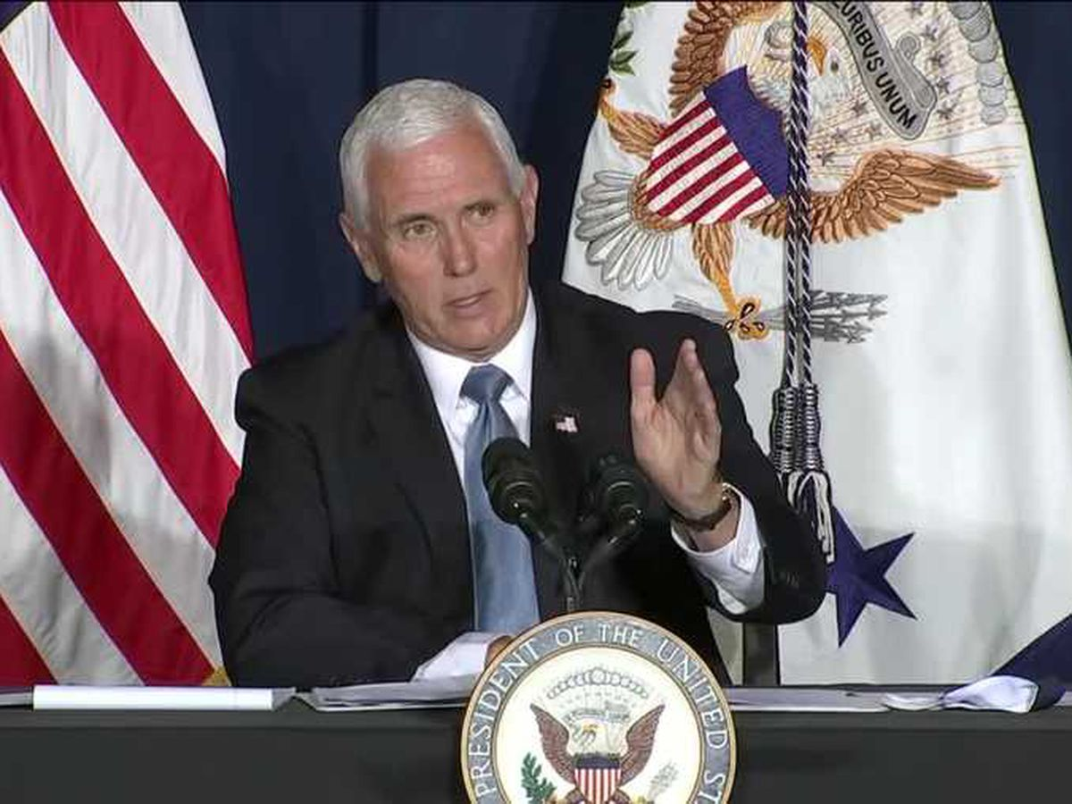 Vice President Mike Pence to hold campaign rally in South Carolina on Tuesday