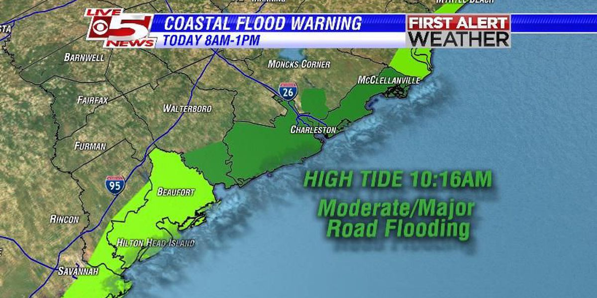 ROAD CLOSURES: Flood waters close several streets to traffic in downtown Charleston