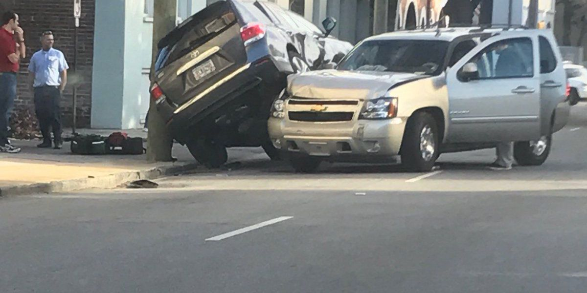 Emergency crews respond to accident on Meeting Street