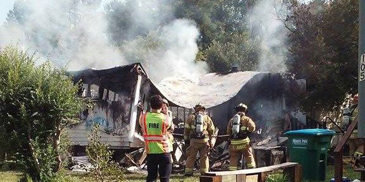 Red Cross assisting resident after fire destroys mobile home in Summerville