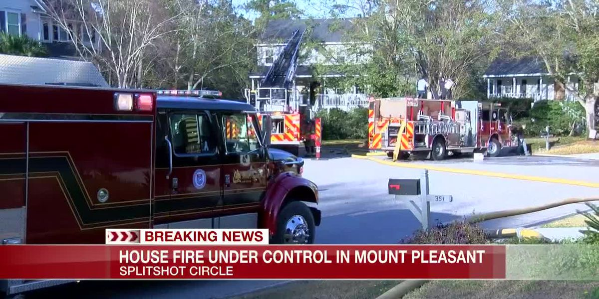 VIDEO: Fire at Mount Pleasant home under control, firefighters say