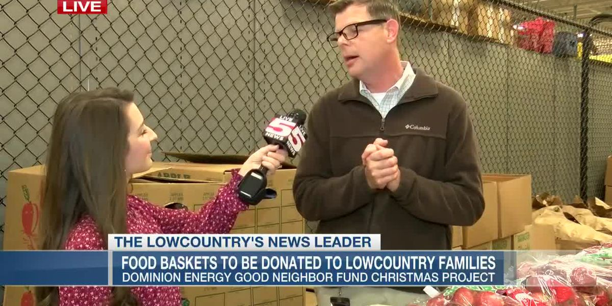 VIDEO: Hundreds of Lowcountry families to receive food baskets, toys from Dominion Energy