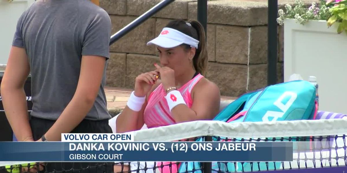 VIDEO: Kovinic upsets Jabeur, reaches Volvo Car Open final