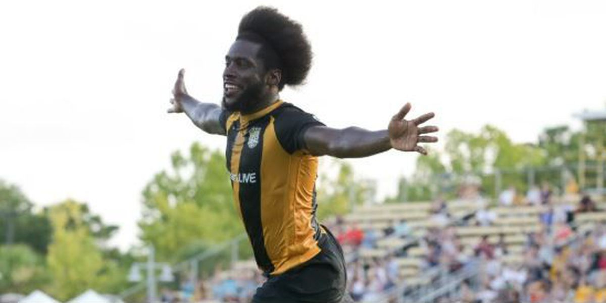 Battery's Neveal Hackshaw named to USL Team of the Week