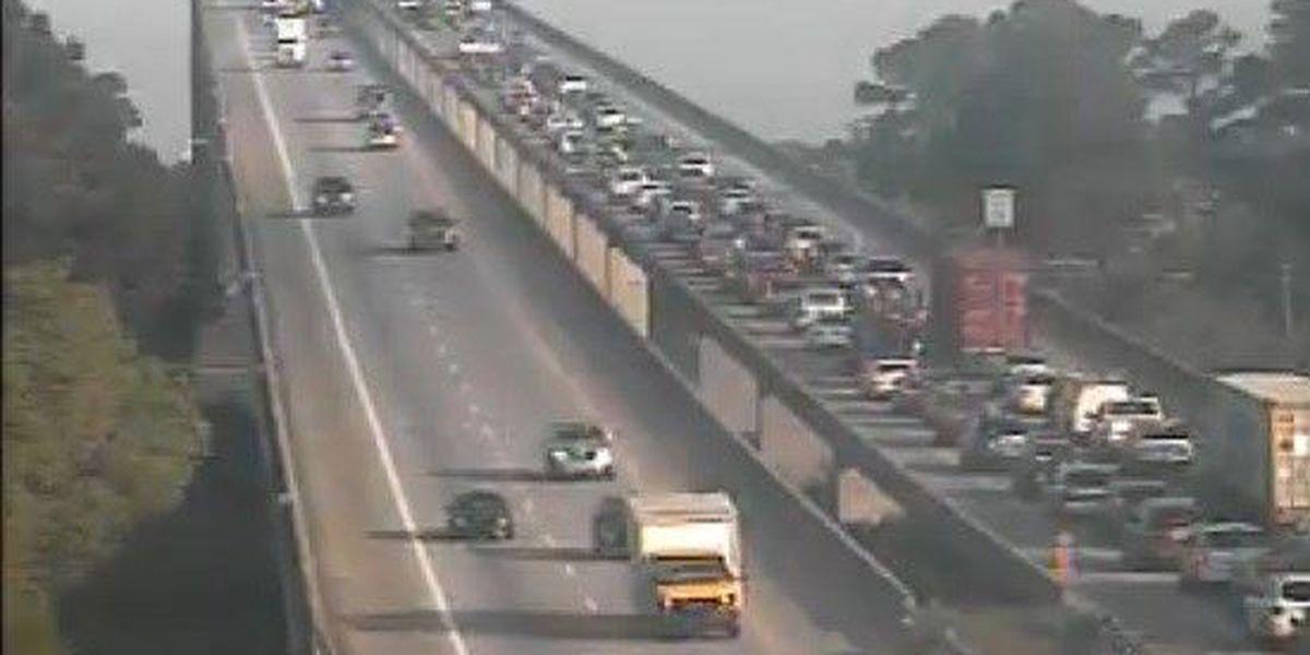 Traffic moving on Wando Bridge after wreck