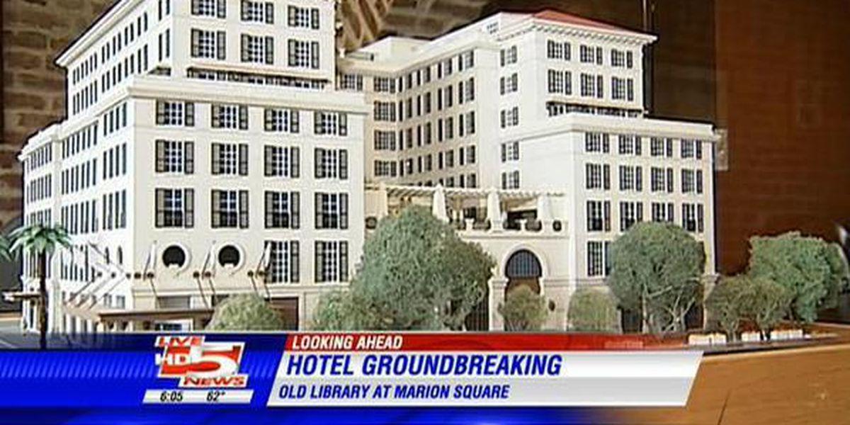 Groundbreaking begins on $101 million Marion Square hotel